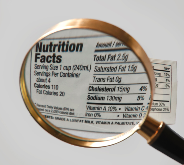 sodium nutrition label