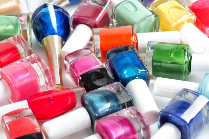assorted nail polish