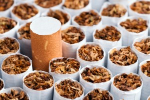 cigarette with brown filters showing