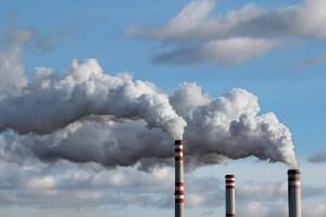 smoke pollution in sky