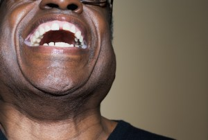 older african american man laughing