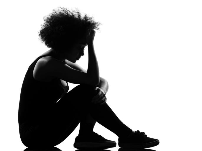 sad youth girl