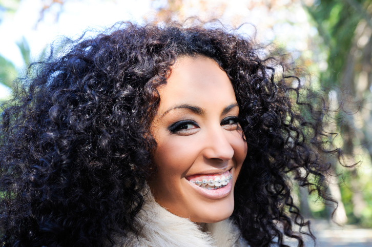 smiling woman braces