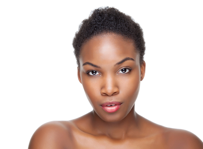 woman clear skin face