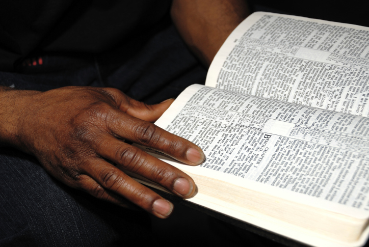 woman open bible