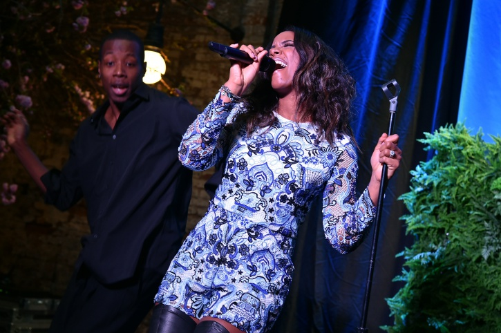 Kelly Rowland performing at Spring Kickoff with Claritin event in NYC on March 20, 2015 in New York City