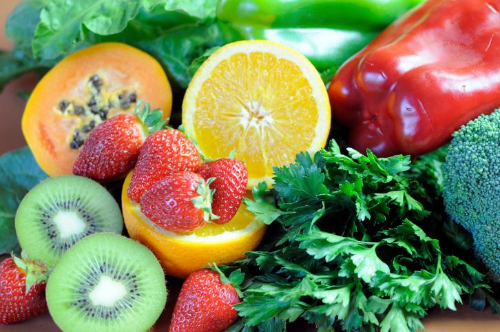 fruits veggies with vitamin C