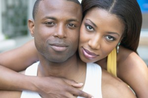 close up of black couple