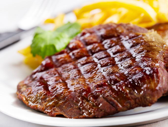 grilled red meat