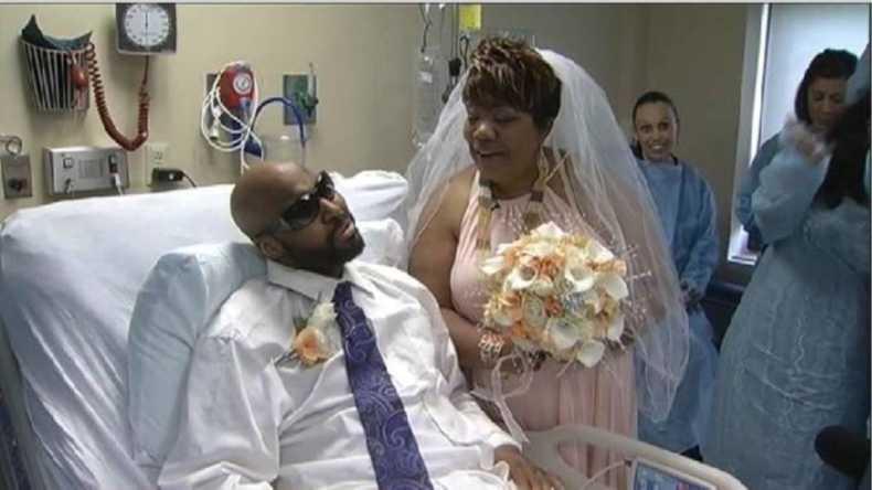 man wedding cancer