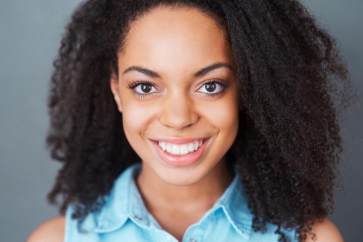 young woman big hair