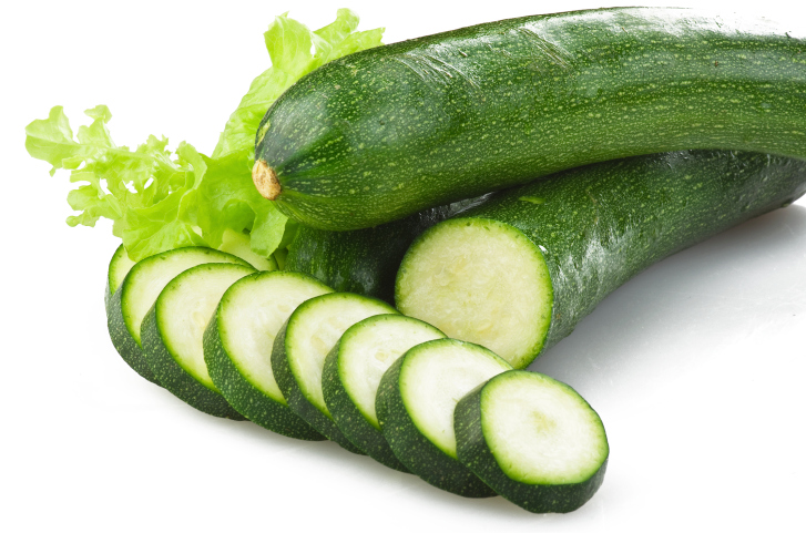 Fresh zucchini sliced