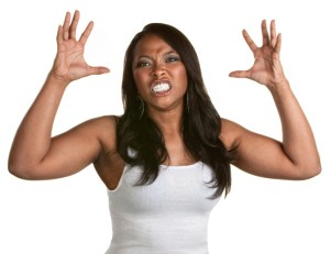 Woman angry With Clenched Teeth
