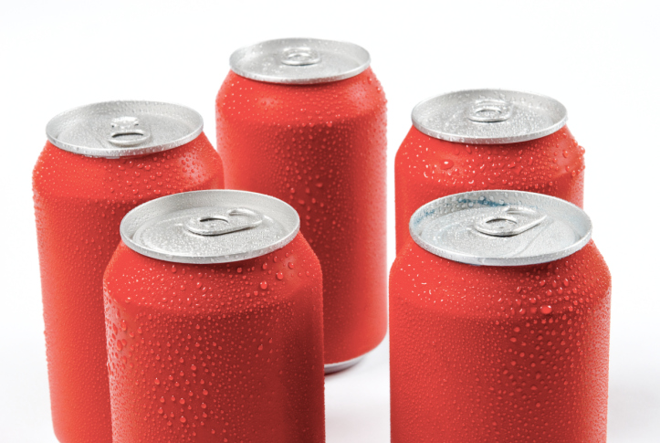 Some red cans cola