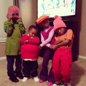 kids dressed up like cast of fat albert for halloween