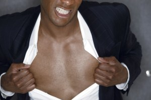 african american man exposing his chest