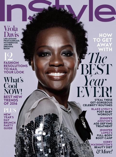 Viola Davis InStyle cover January 2016