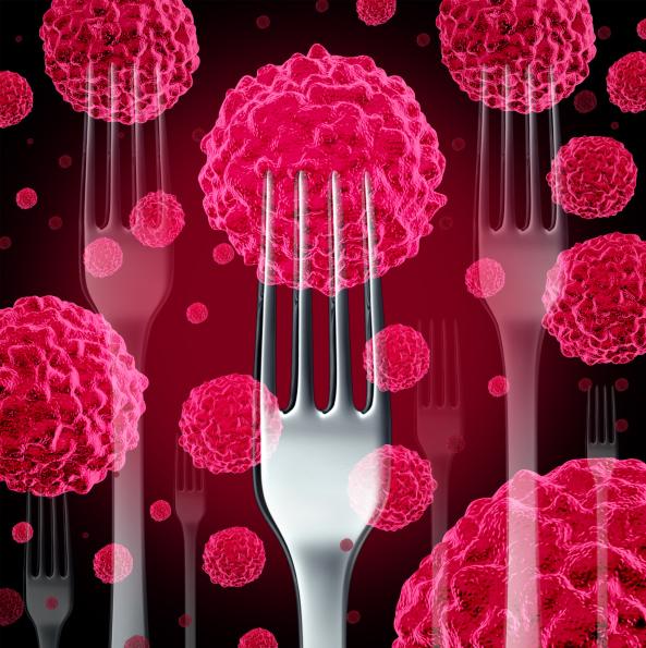 food cancer illustration