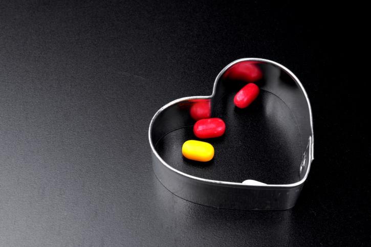 pills inside of a heart