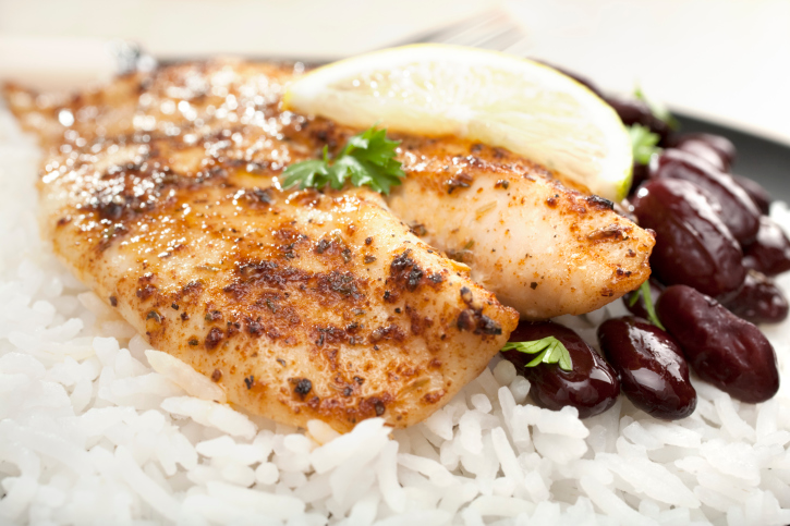 Grilled White Fish Dory with Spicy Creole Cajun Rub