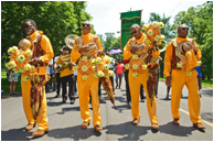 New Orleans's Treme Brass Band (featured in Beyoncé's Lemonade) performing in the second line of the Park Exchange event in Chicago, IL, part of the #FindYourPark