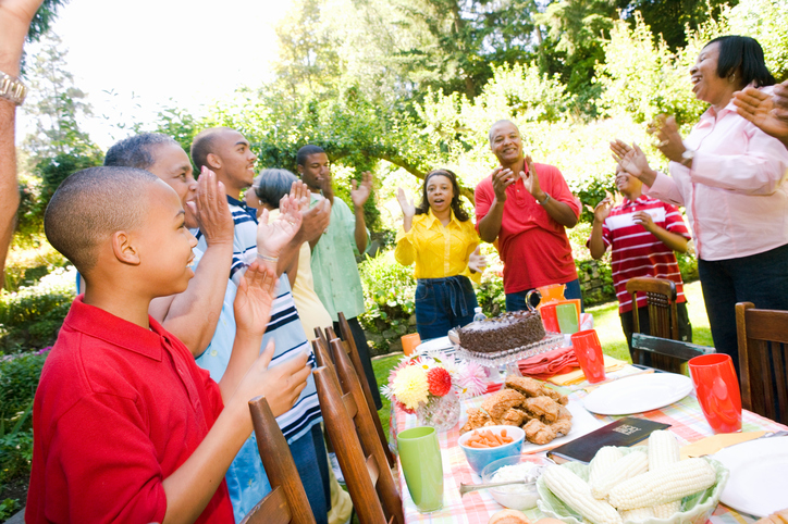 African American family picnic
