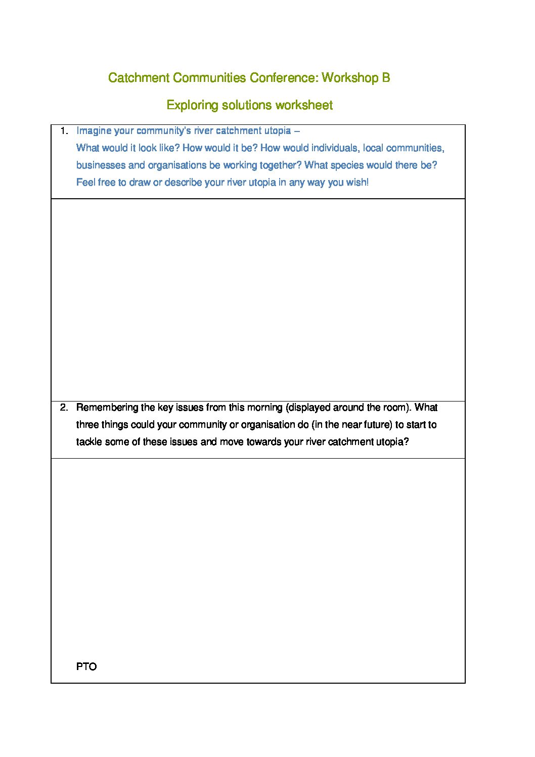 Workshop B Worksheet