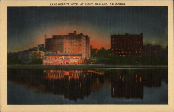 Lake Merritt Hotel at Night, Oakland, CA