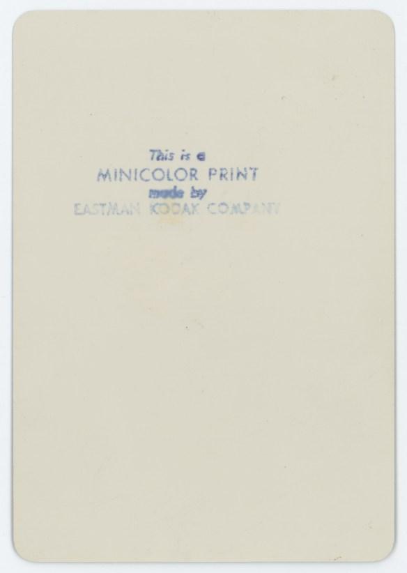 1942 Minicolor print back