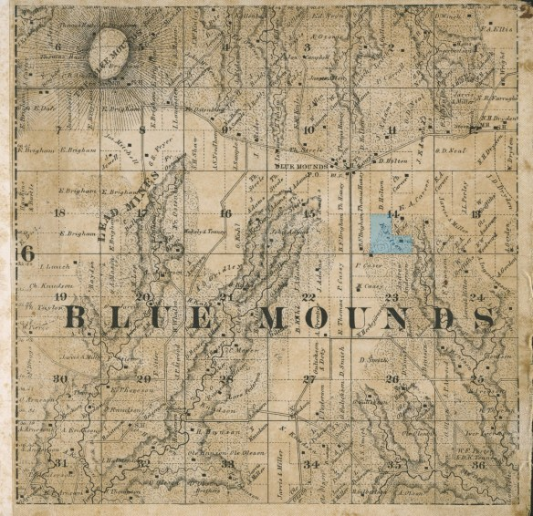 Blue Mounds plat 1861
