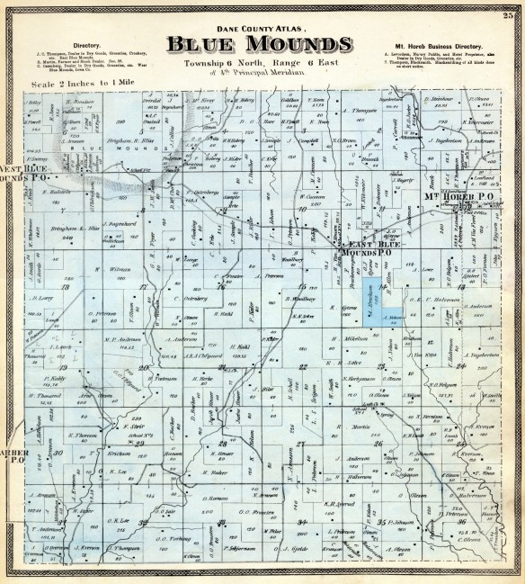 Blue Mounds plat 1873