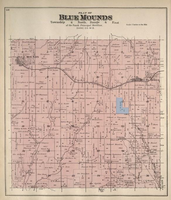 Blue Mounds plat 1890