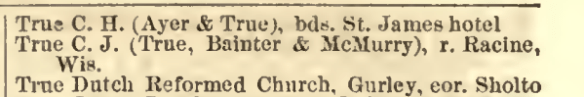 Chicago 1869  True p.894