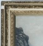 Frame detail, mountain scene 004