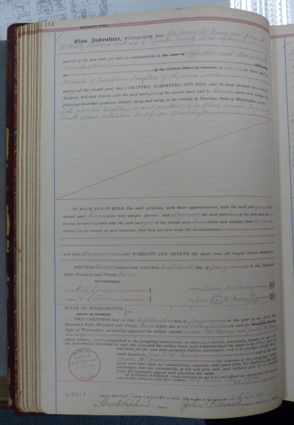 1892-01-18 Isaac McMurry warranty deed