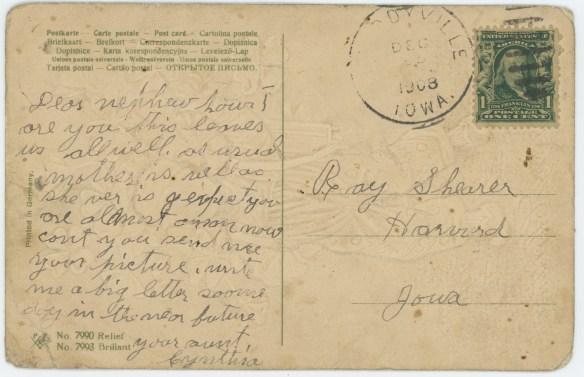 1908-12-25 postcard back