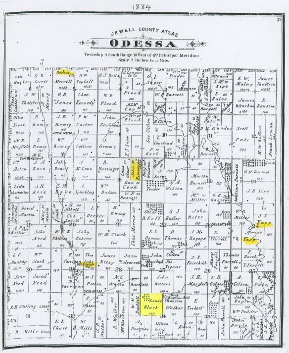 Odessa township Plat