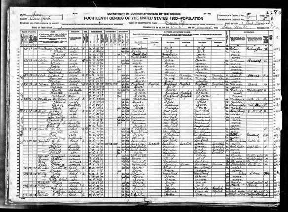 GI Prettyman 1920 census
