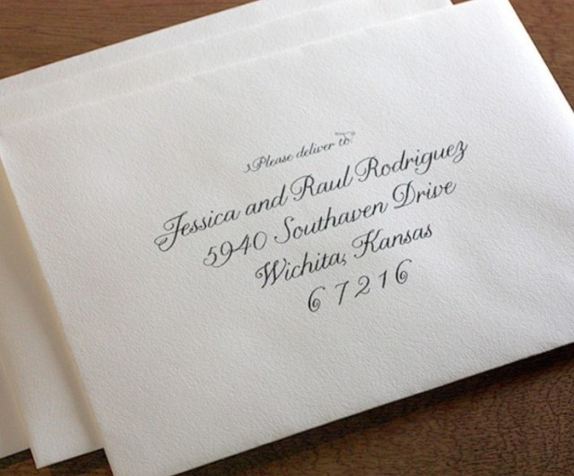 Using Titles on Wedding Invitations and Wedding Envelopes