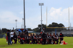 Beaumont Bulls football team takes a knee in support of Kaepernick. Source: nydailynews.com