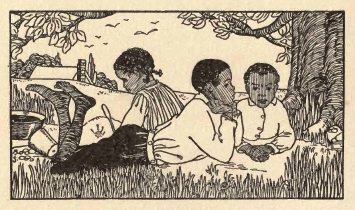 Black art Illustration from Vintage Book Ole Mammy