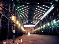 Inside the factory hanger