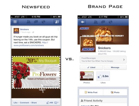 Snickers mobile Newsfeed