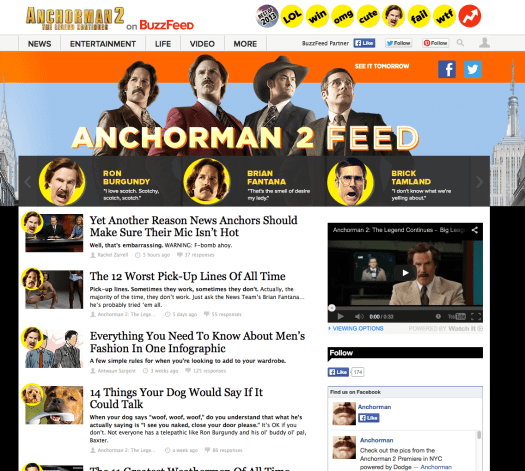 Buzzfeed Anchorman 2 feed