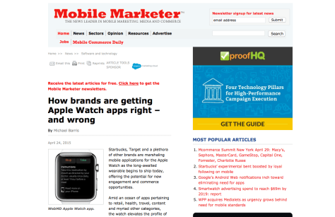Mobile Marketer Apple Watch