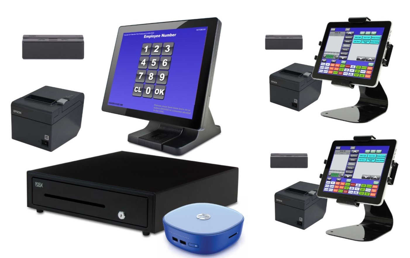 3 Station Blackfish POS System With Tablets