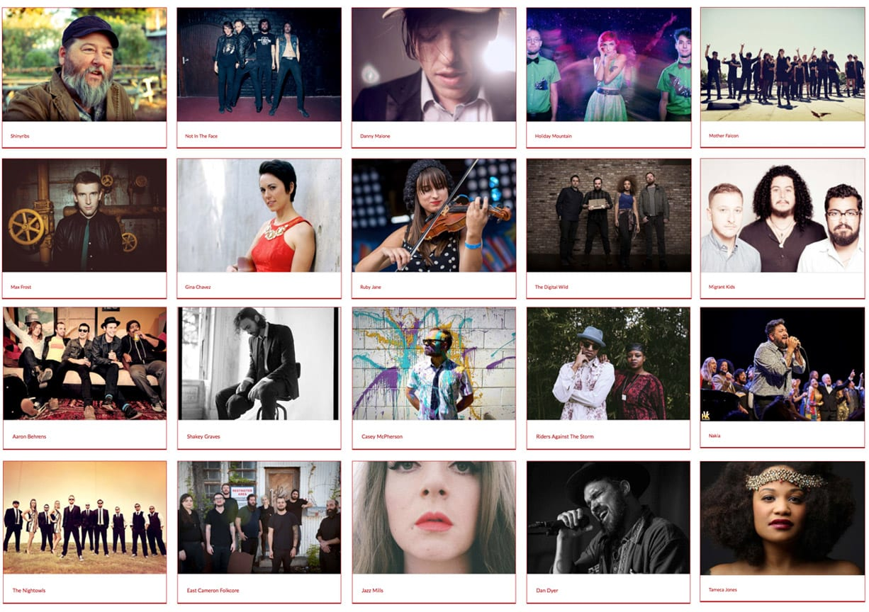 2015 Artists