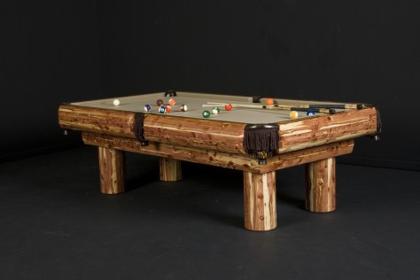 Red Cedar Log Pool Table Black Friday deals