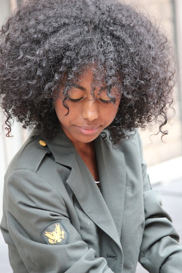 Snytt  3C4A Natural Hair Style Icon  Black Girl With Long Hair-5910