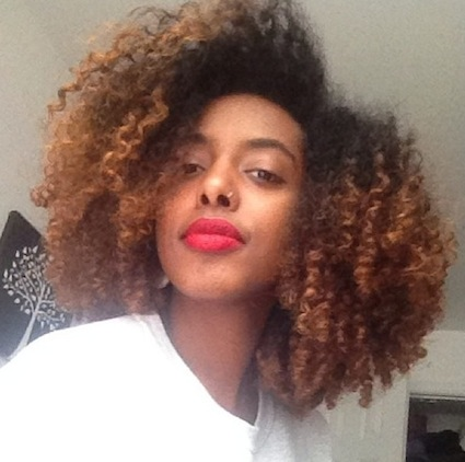 hajar 3c 4a natural hair style icon black girl with long hair